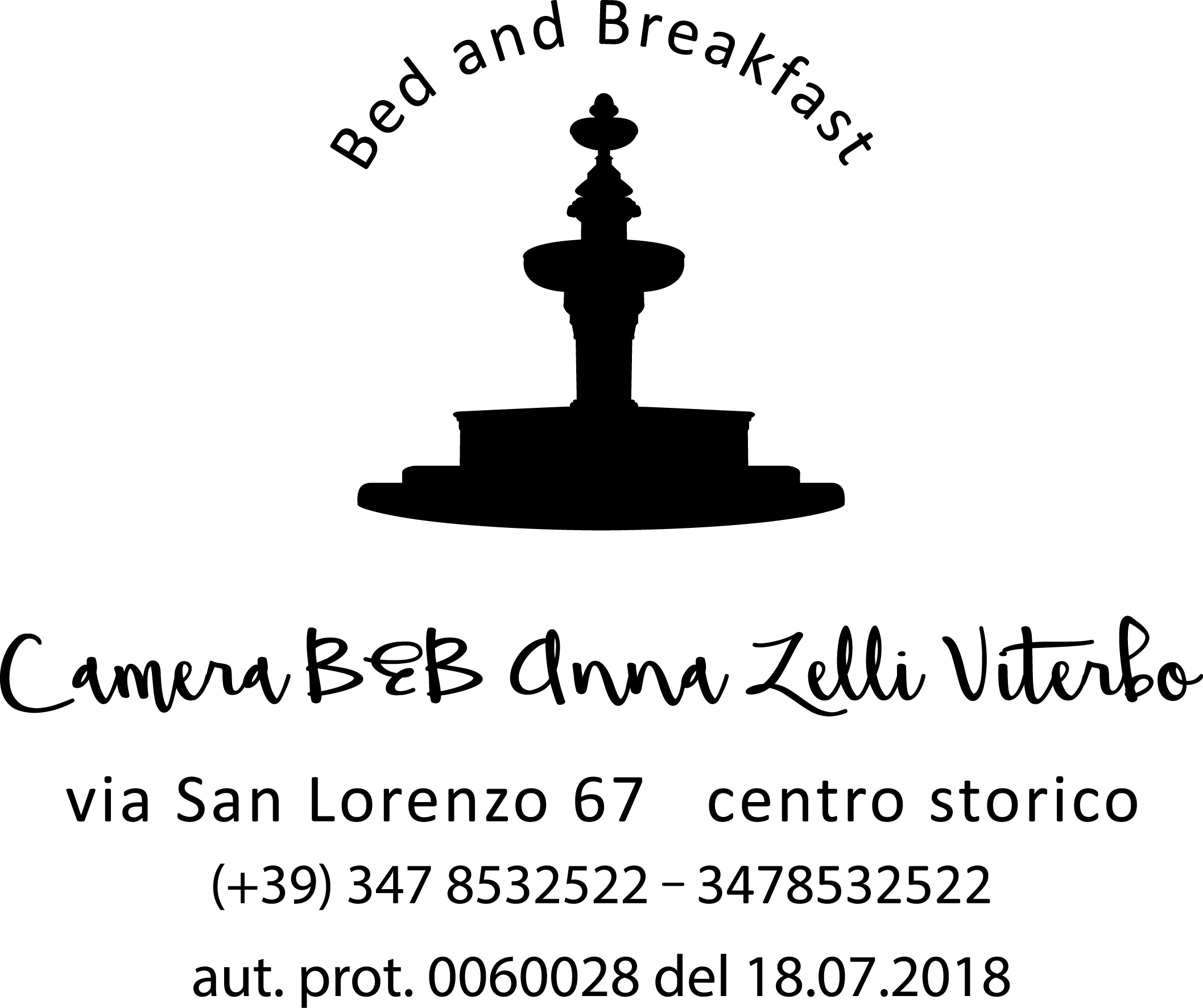 camera b&b anna zelli viterbo logo bed and breakfast centro storico viterbo
